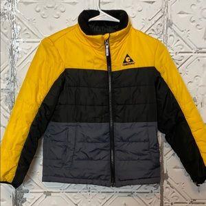 Boys contrast zip up winter jacket